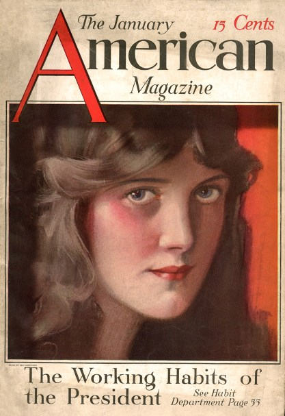 American Magazine with pastel artwork as cover (included in sale)