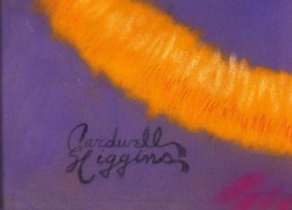 The artist's distinctive signature
