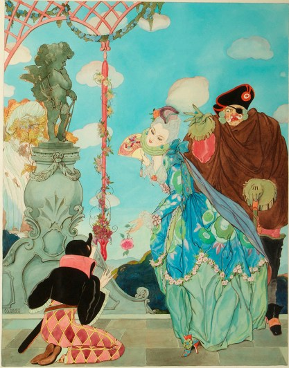 Full view of guache illustration