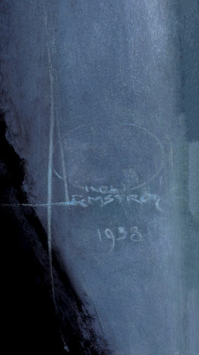 The artist's signature and date of 1938 middle right