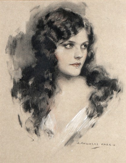 Full view of the pastel of Follies beauty Naomi Johnson