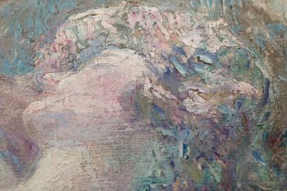 Detail of impressionist impasto technique