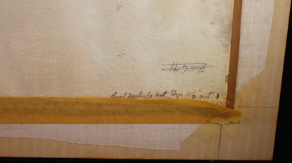 Notations on back of artwork