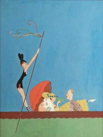 Full view of whimsical gouache cover illustration