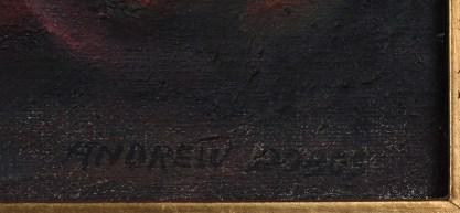 Artist's signature lower right