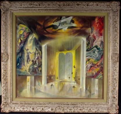 Framed view in original gesso'd frame