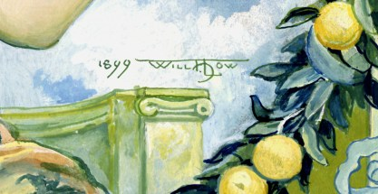 The artist's signature and date