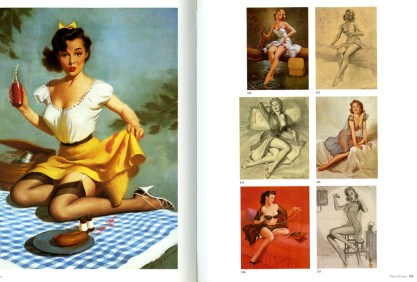 Harry Ekman images from The Great American Pin-up, note sketch of this painting lower right