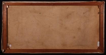 Verso view - original pine stretcher bars