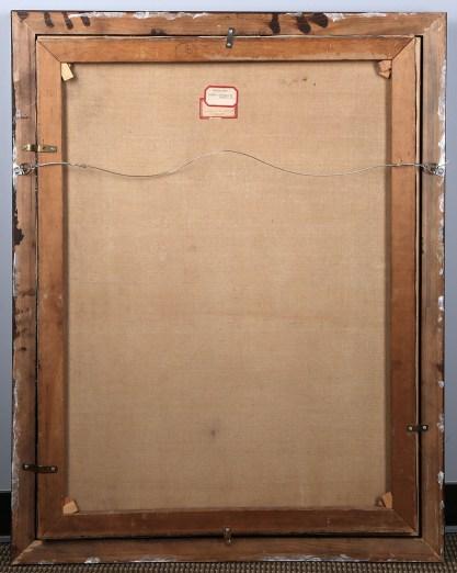 Verso view and original stretchers