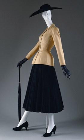 Christian Dior 'Bar' suit and jacket, spring/summer 1947 © The Metropolitan Museum of Art