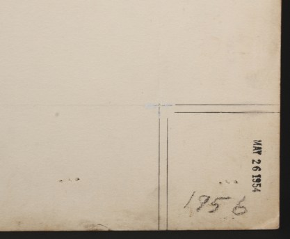Kemper Thomas date stamp and notations