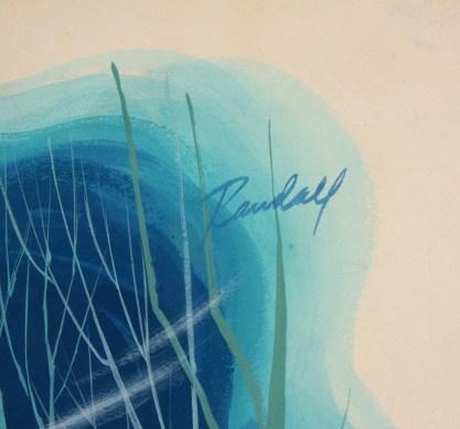 The artist's signature, upper right
