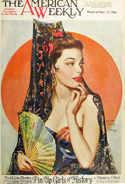 The artwork as it appeared on the cover of The American Weekly , Nov. 17, 1946