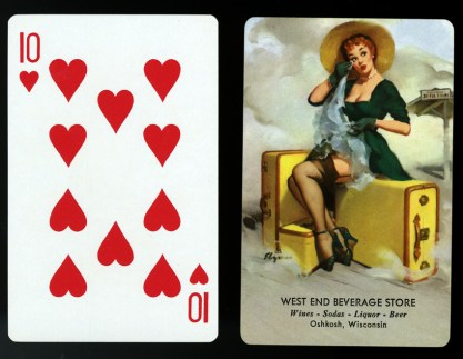 Playing cards of Welcome Traveler included in sale.