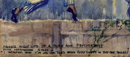 artist painted caption detail