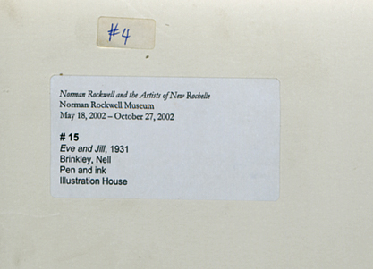 2002 Norman Rockwell Museum exhibit label