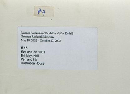 2002 Norman Rockwell Museum exhibit label