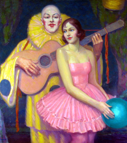 Alphonse Palumbo's Pierrot and Ballerina behind the scenes