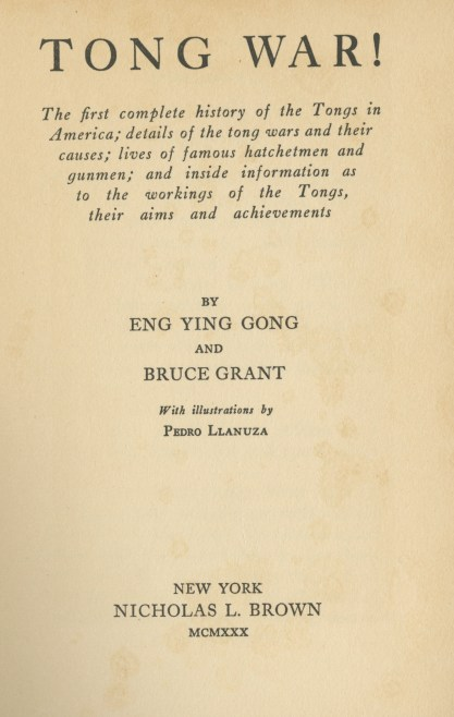 Title Page for Tong War!