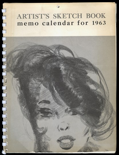 Artist's Sketch Book memo calendar for 1963