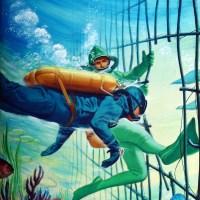 Navy Frog Men Scuba Scene