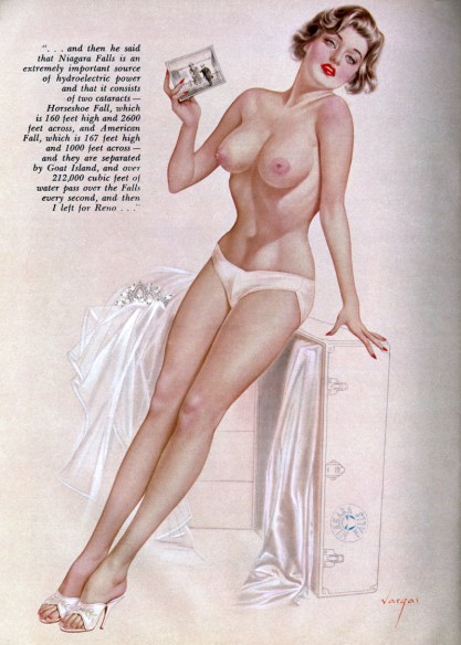 The artwork as it appeared in Playboy Magazine ( included in sale)