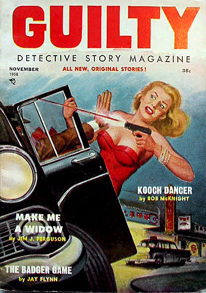 The painting as the cover of Guilty Detective Story Magazine, May 14, 1956