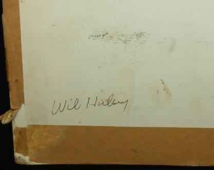 artist's signature back lower corner