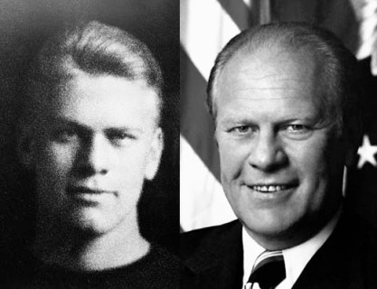 The young Yale Law School  Connover agency model and future United States President Gerald Ford.