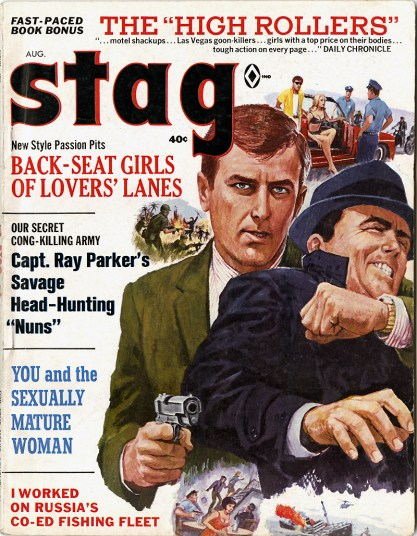 Stag Magazine - August, 1967 were artwork appeared on pages 32 - 33 included in sale