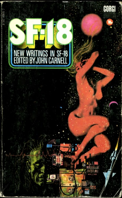 The painting as it appeared as the cover for a science fiction collection titled SF-18