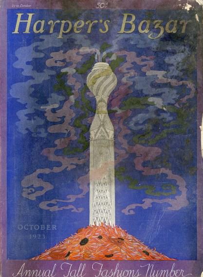 Original artwork as the cover for October 1923 Harper's Bazar