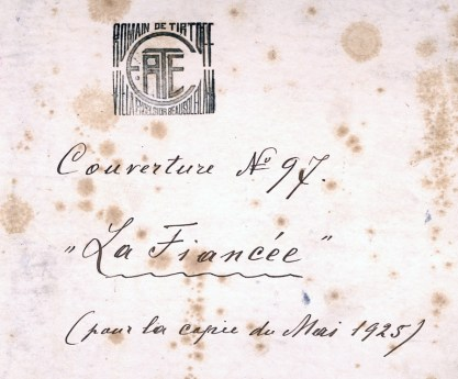 Verso notations and artist stamp detail