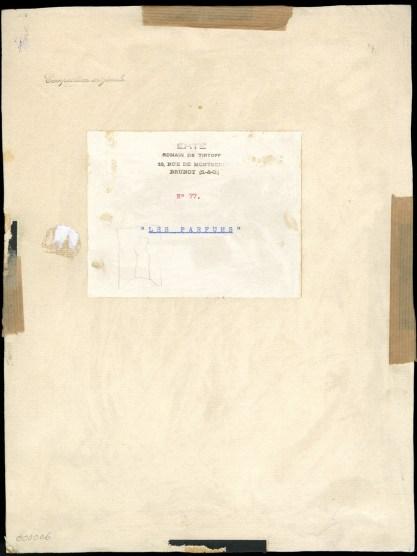 Verso view before framing
