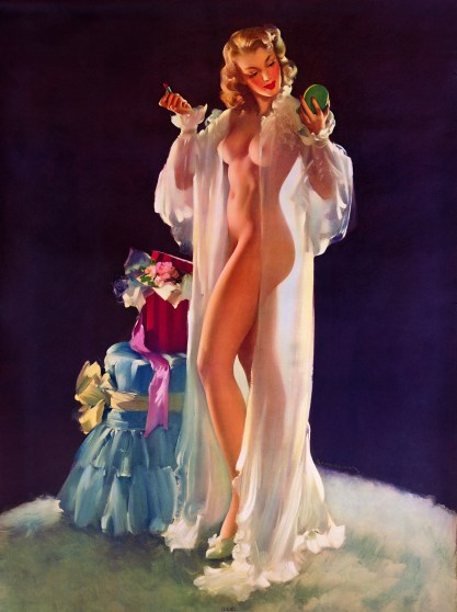 Another nude Sundblom calendar image for The Colson Company titled Ideal