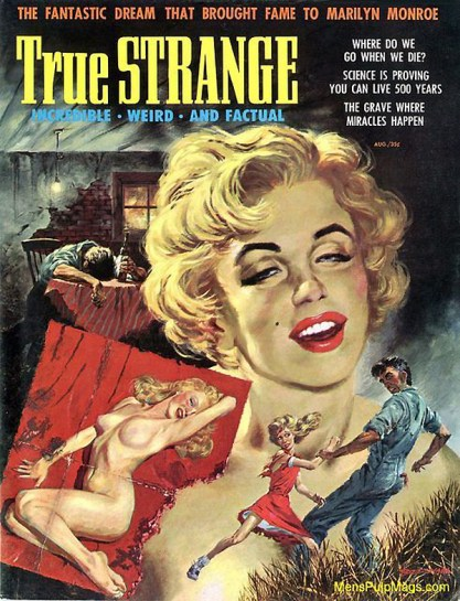 The painting as it appeared as the cover of True Strange Magazine
