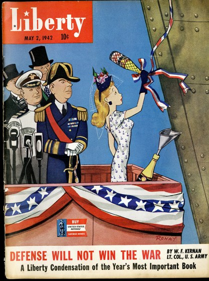 The illustration as it appeared as the cover for Liberty Magazine, May 2, 1942 (included in sale).