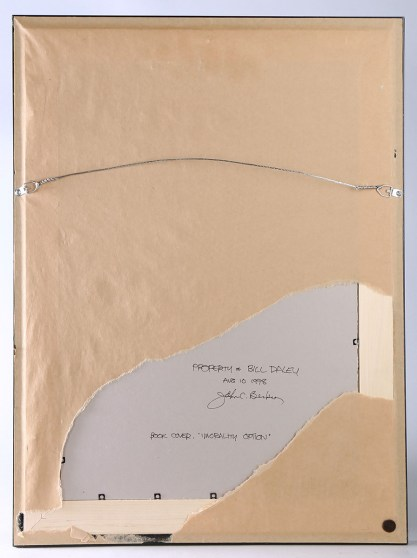 Artist's notations to verso