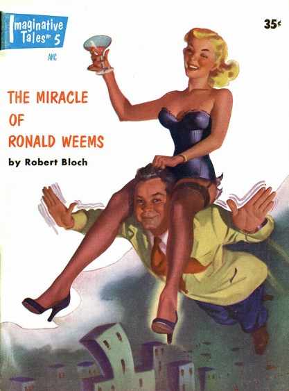 The illustration as it appeared as the cover of Imaginative Tales - May, 1955