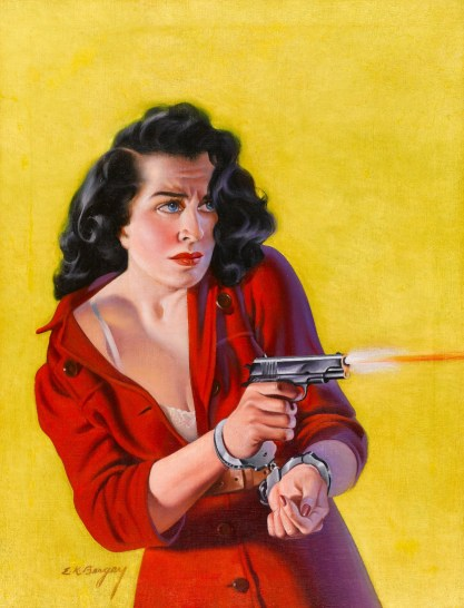 Previously sold at auction Earle K. Bergey pulp cover painting that would appear to feature the same model