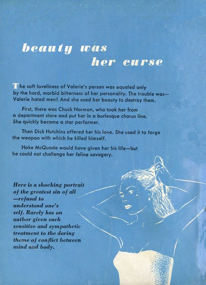 Back cover of paperback with publishers text slug