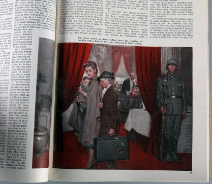 The image as it appeared on page 55 - in the June, 1943 edition of Cosmopolitan Magazine (included in the sale)
