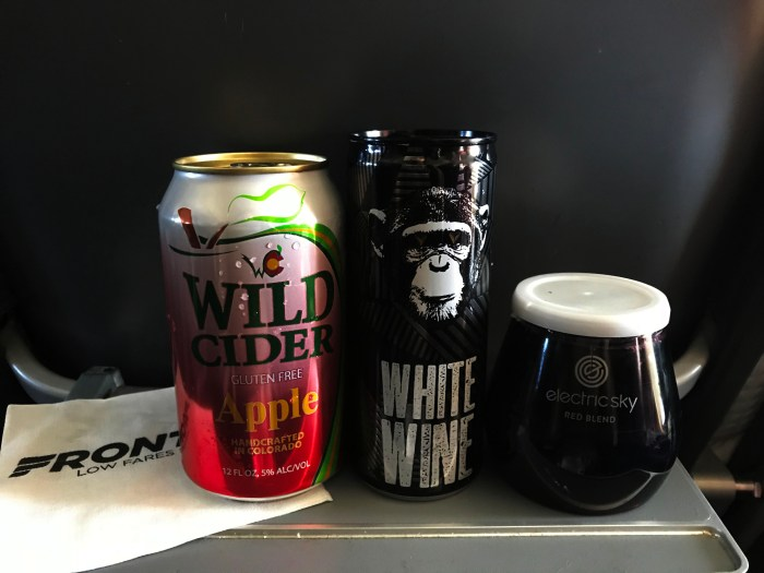 in flight tasting travel wine tasting infinite monkey theorem hard apple cider electric sky red blend