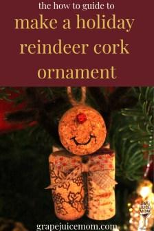How to cork reindeer ornament