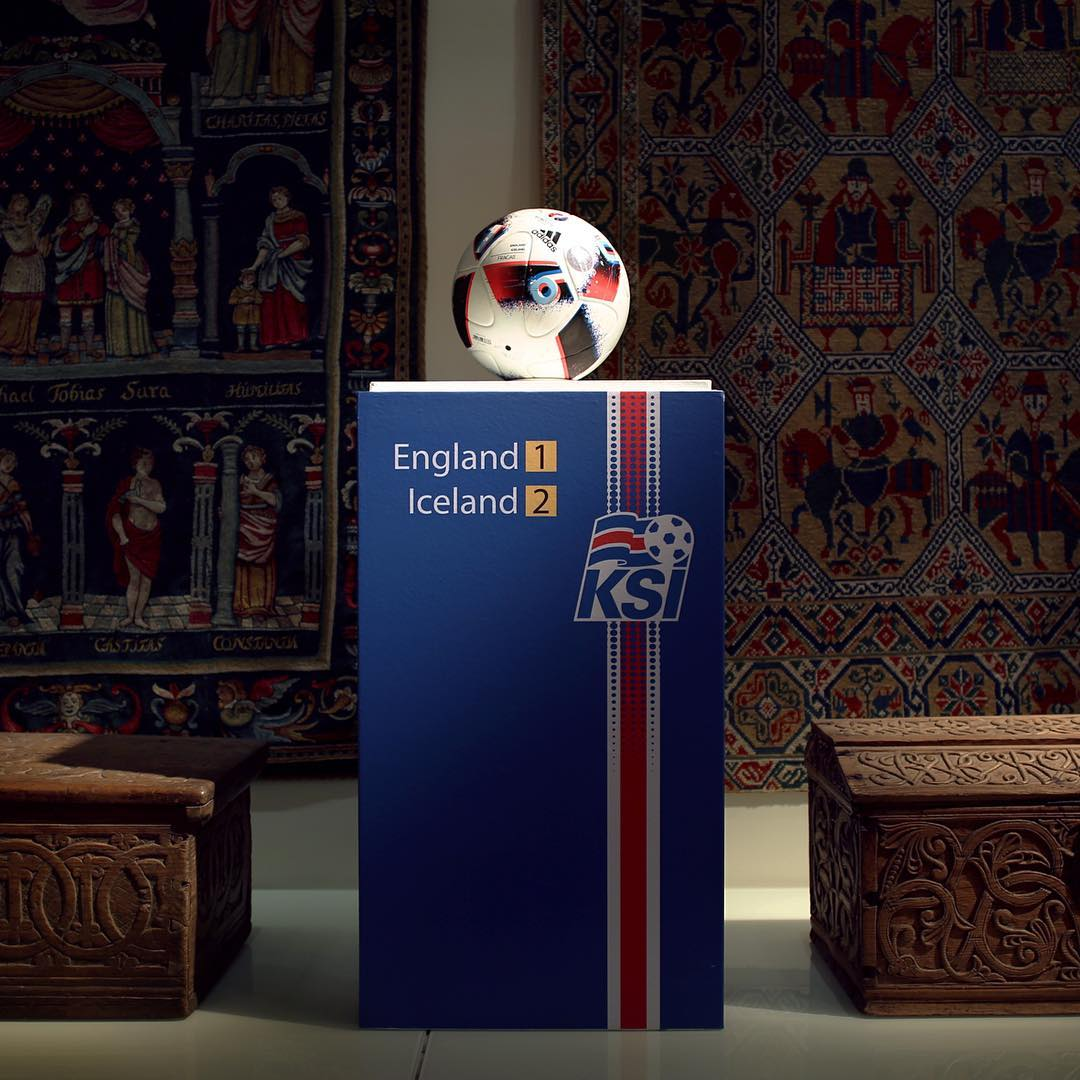 Ball From Iceland v. England UEFA Match Premieres At National Museum