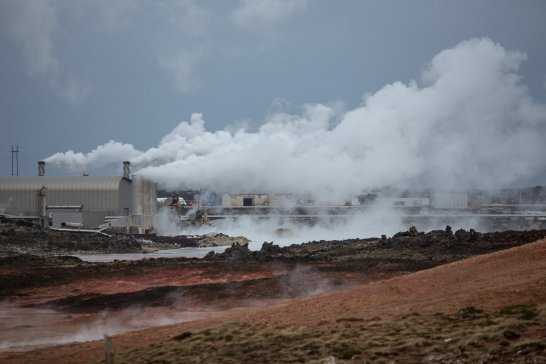 Reykjanes Geothermal Power Plant at Gunnuhver