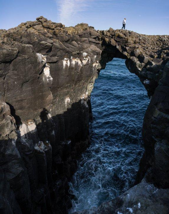 Natural stone bridge