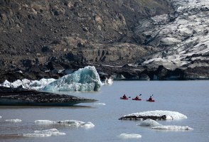 Floating In A Glacial Lagoon