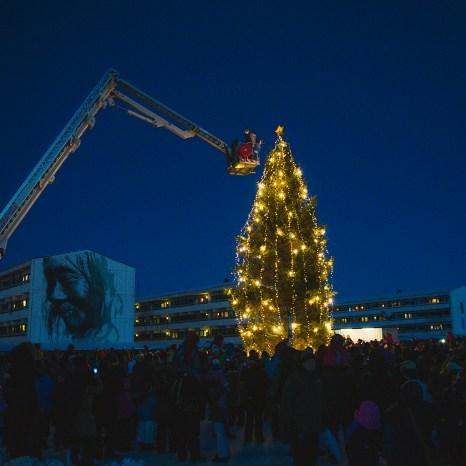 Nuuk Christmas Scene by Axel Sig